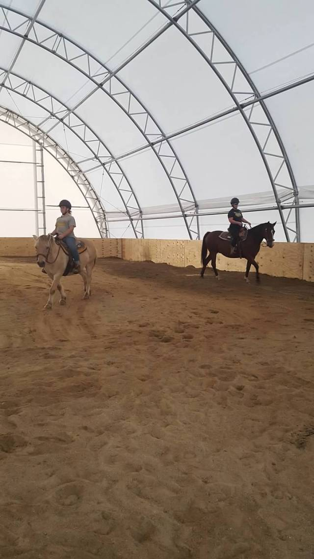 riding in arena